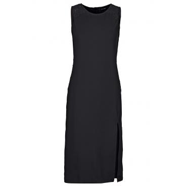 Scuba-Kleid mit Spitze in schwarz von bonprix