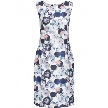 Scuba-Stretch-Kleid ohne Ärmel  in weiß für Damen von bonprix