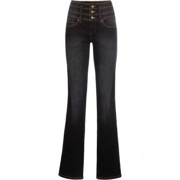 Shaping-Stretch-Jeans Bauch- Beine- Po , BOOTCUT in schwarz für Damen von bonprix