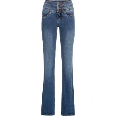 Shaping-Stretch-Jeans Bauch-Weg-Bootcut in blau für Damen von bonprix