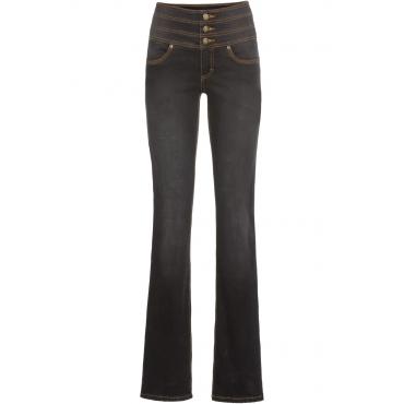 Shaping-Stretch-Jeans Bauch-Weg-Bootcut in schwarz für Damen von bonprix