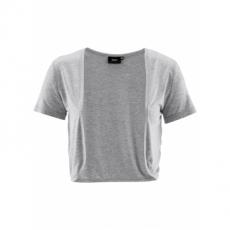 Shirt-Bolero kurzer Arm  in grau für Damen von bonprix