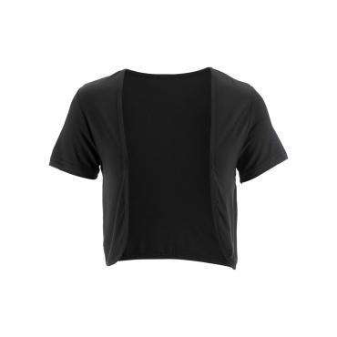 Shirt-Bolero kurzer Arm  in schwarz für Damen von bonprix