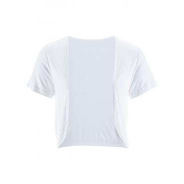 Shirt-Bolero kurzer Arm  in weiß für Damen von bonprix