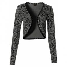 Shirt Bolero langarm  in grau für Damen von bonprix