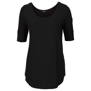Shirt 3/4 Arm  in schwarz (Rundhals) für Damen von bonprix