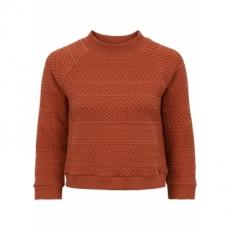 Shirt in Strickoptik in braun für Damen von bonprix