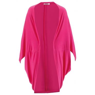 Shirt-Jacke mit Leinenanteil in pink für Damen von bonprix