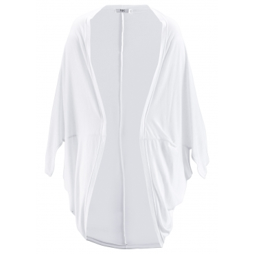 Shirt-Jacke mit Leinenanteil in weiß für Damen von bonprix