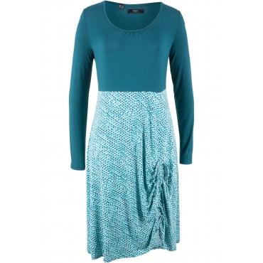 Shirt-Kleid, Langarm in petrol von bonprix