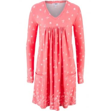 Shirt-Kleid, Langarm in pink von bonprix