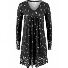 Shirt-Kleid, Langarm in schwarz von bonprix