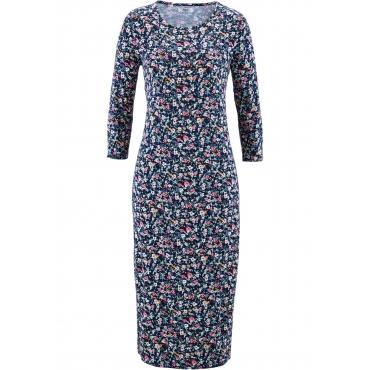 Shirt-Kleid mit 3/4-Ärmeln 3/4 Arm  in blau für Damen von bonprix
