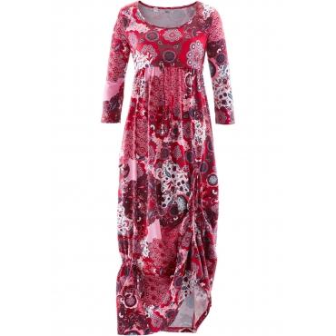 Shirt-Kleid mit 3/4-Ärmeln 3/4 Arm  in rot für Damen von bonprix