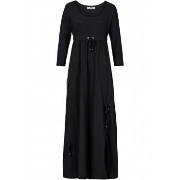 Shirt-Kleid mit 3/4-Ärmeln 3/4 Arm  in schwarz für Damen von bonprix