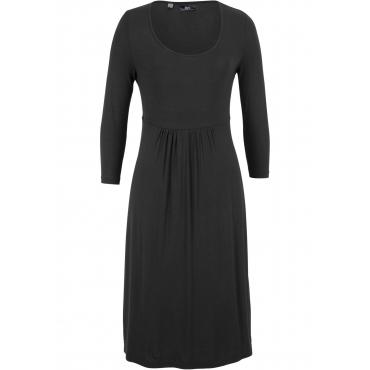 Shirt-Kleid mit 3/4-Arm in schwarz für Damen von bonprix