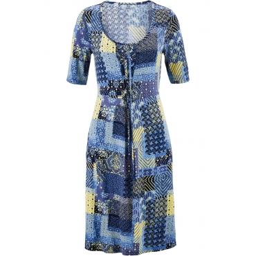 Shirt-Kleid mit halblangen Ärmeln halber Arm  in blau von bonprix