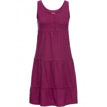 Baumwoll Jerseykleid, kurz ohne Ärmel  in lila für Damen von bonprix