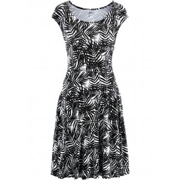 Shirt-Kleid ohne Ärmel  in weiß von bonprix