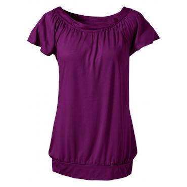 Shirt kurzer Arm  in lila (Rundhals) für Damen von bonprix