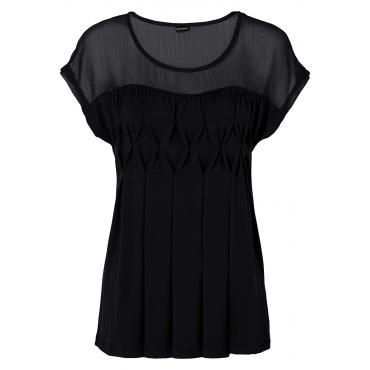 Shirt kurzer Arm  in schwarz für Damen von bonprix