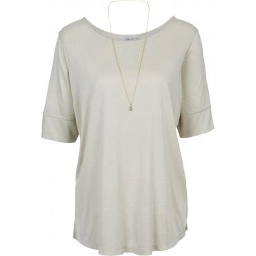 Shirt mit abnehmbarer Kette 3/4 Arm  in beige für Damen von bonprix