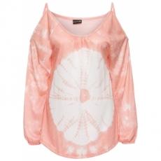Shirt mit Batik-Print in pink für Damen von bonprix