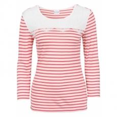 Shirt mit Spitze 3/4 Arm  in weiß für Damen von bonprix