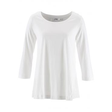 Shirt mit Spitze, 3/4 Arm in weiß für Damen von bonprix