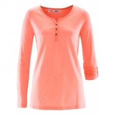 Shirt-Tunika mit langen Ärmeln langarm  in orange für Damen von bonprix