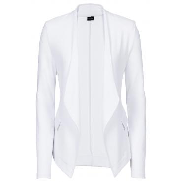 Shirtblazer langarm  in weiß für Damen von bonprix