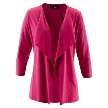 Shirtjacke 3/4 Arm  in pink für Damen von bonprix