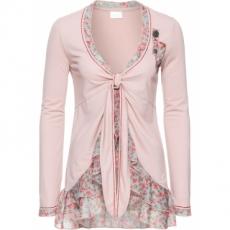 Shirtjacke mit Chiffon langarm  in rosa für Damen von bonprix