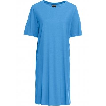 Shirtkleid 3/4 Arm  in blau (Rundhals) von bonprix