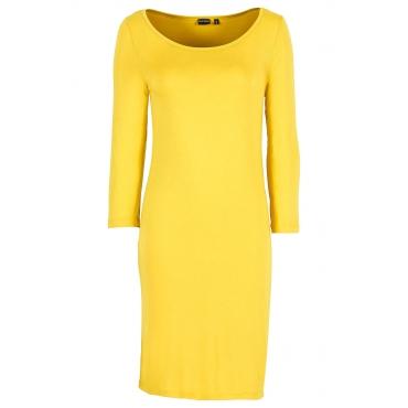 Shirtkleid 3/4 Arm  in gelb (U-Boot-Ausschnitt) von bonprix
