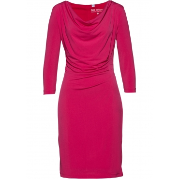 Shirtkleid 3/4 Arm  in pink (Rundhals) von bonprix