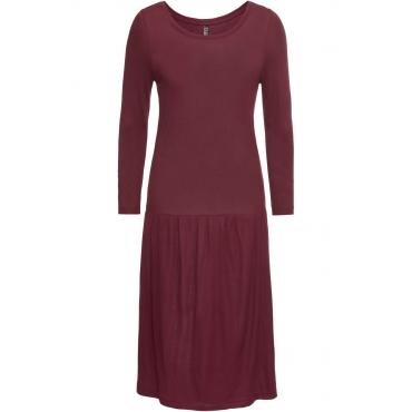Shirtkleid 3/4 Arm  in rot (Rundhals) von bonprix