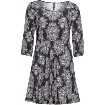 Shirtkleid 3/4 Arm  in schwarz (Rundhals) für Damen von bonprix