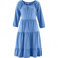 Shirtkleid aus Leinenmix, 3/4 Arm in blau von bonprix