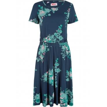 Shirtkleid, bedruckt kurzer Arm  in blau von bonprix