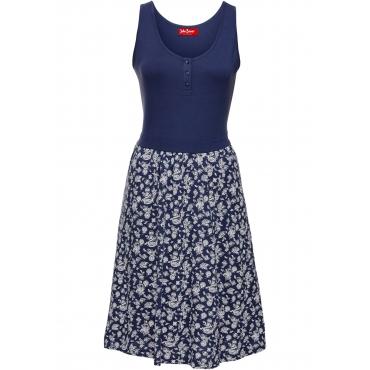 Shirtkleid bedruckt ohne Ärmel  in blau von bonprix