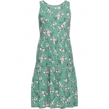 Shirtkleid, bedruckt ohne Ärmel  in grün für Damen von bonprix