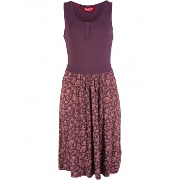 Shirtkleid bedruckt ohne Ärmel  in lila von bonprix