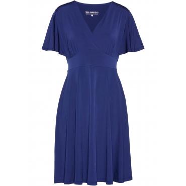 Shirtkleid Flügelärmel  in blau (V-Ausschnitt) für Damen von bonprix