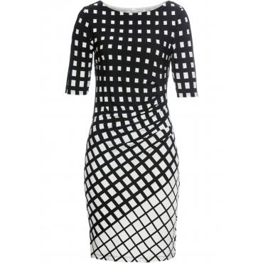 Jerseykleid halber Arm  in schwarz für Damen von bonprix