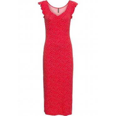 Shirtkleid in Midi-Länge kurzer Arm  in rot von bonprix