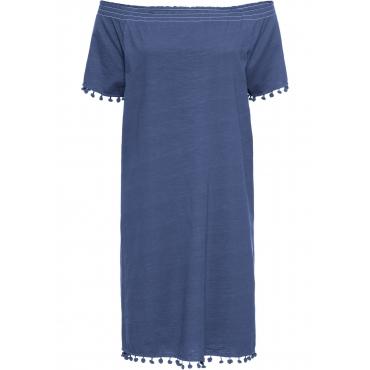 Shirtkleid, Kurzarm in blau für Damen von bonprix