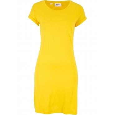 Shirtkleid, Kurzarm in gelb von bonprix