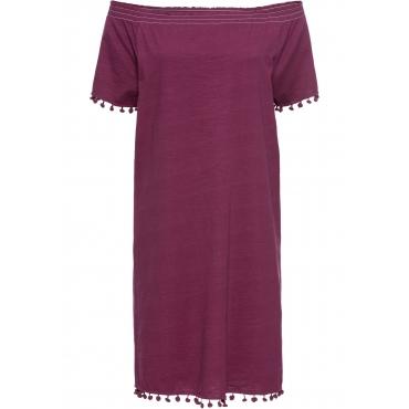 Shirtkleid, Kurzarm in lila für Damen von bonprix