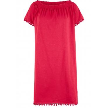 Shirtkleid, Kurzarm in rot für Damen von bonprix